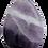 Thumbnail: Purple and White Teardrop Agate Pendant