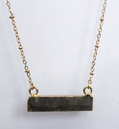 Chain Necklace with Labradorite Bar