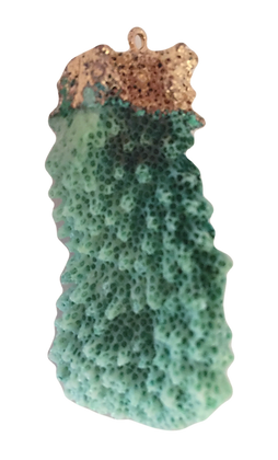 Green Coral Agate Pendant