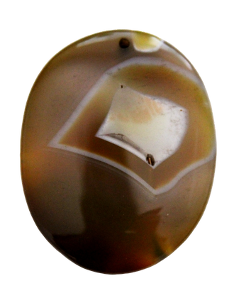 Oval Brown Agate Pendant