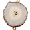 Thumbnail: White Round Druzy connector Pendant