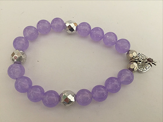 Cute Lavender Stretch Bracelet