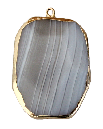 Shades of Gray Agate Pendant