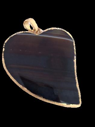 Brown Heart Agate Pendant