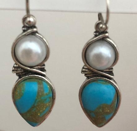 Abstract Designer Dangle Earrings