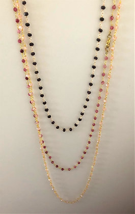 Delicate Three Layered Rosary Necklace
