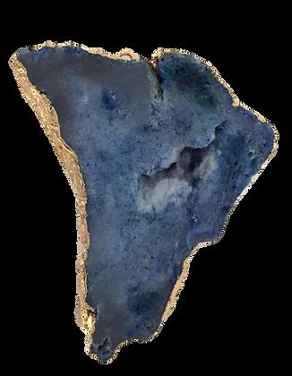 Blue Druzy Connector Pendant