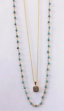 Gold Plated Double Necklace