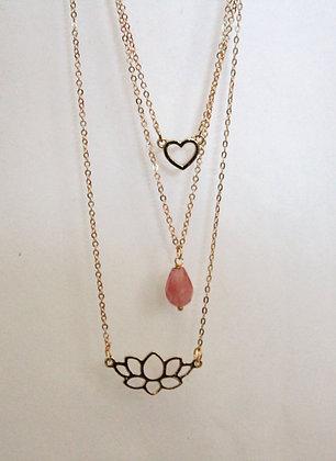 Three Layered with Lotus Pendant