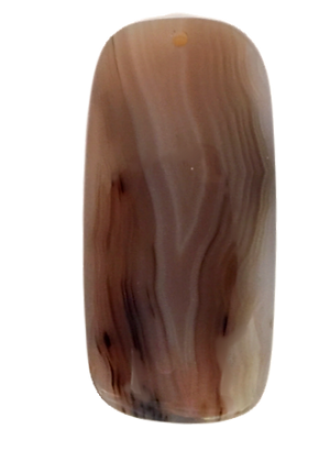 Tan and Brown Agate Pendant