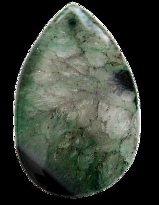 Green Teardrop Agate Pendant