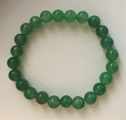 Green Aventurine Stretch Healing Mediation Stone Bracelet