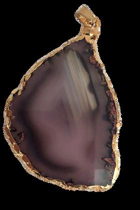 Purple Agate Slice Pendant
