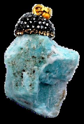 Raw Blue Howlite Pendant