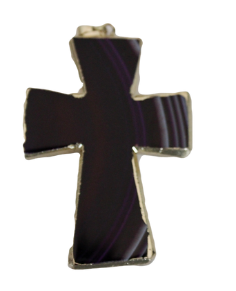 Shades of Purple Agate Cross