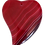 Thumbnail: Red Curvy Heart Agate Slice Pendant