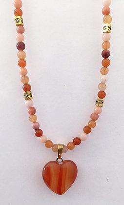 Shades of Orange Agate Necklace