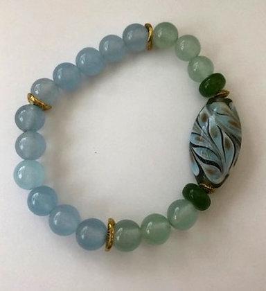 Blue & Green Agate Bracelet