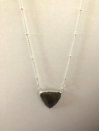Labradorite Triangle Pendant Necklace