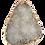 Thumbnail: White Druzy Connector Pendant