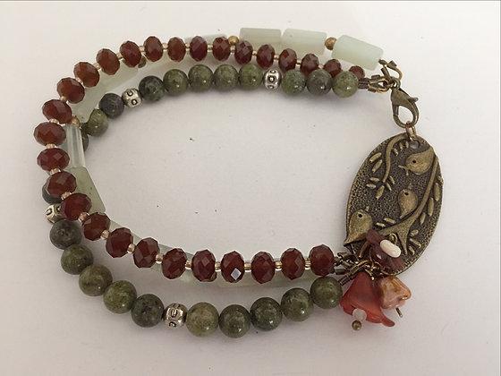 Multi-Strand Earth Toned Bracelet