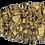 Thumbnail: Brass Coated Teardrop Druzy Pendant