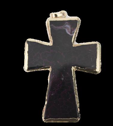 Purple Dragons Vain Agate Cross