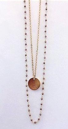 Two Layered Rosary Necklace