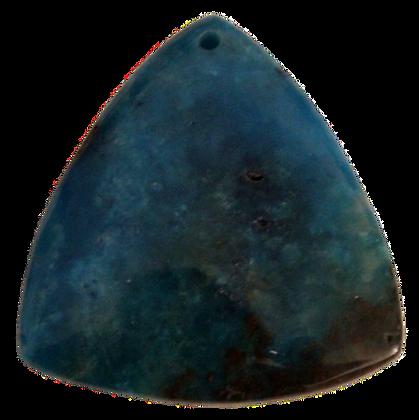 Dark Teal Triangle Agate Pendant