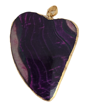 Purple and Magenta Heart Pendant