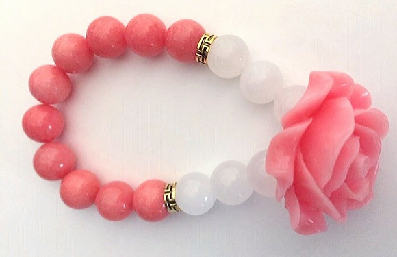 Rhodochrosite Pink Bracelet
