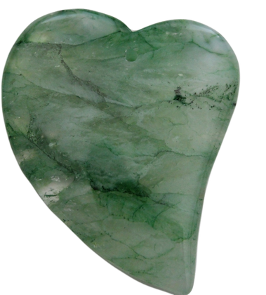 Green Heart Agate Pendant