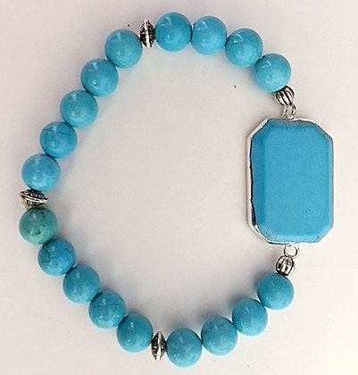 Turquoise Beaded Stretch Bracelet