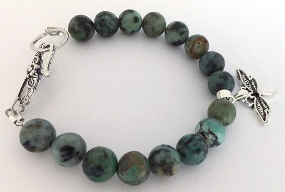 Green Chrysoprase Beaded Bracelet