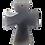 Thumbnail: Gray Agate Slice Cross Pendant