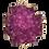 Thumbnail: Magenta Cross Druzy Pendant