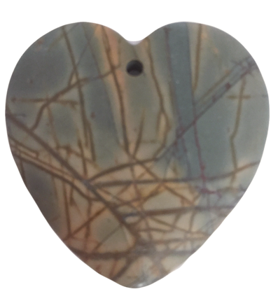 Picasso Jasper Heart Pendant