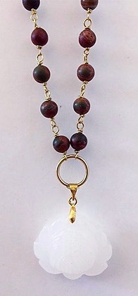 Red Bloodstone Rosary Necklace