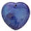 Thumbnail: Blue and Purple Heart Agate Pendant