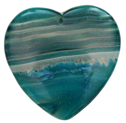 Green Heart AgatePendant