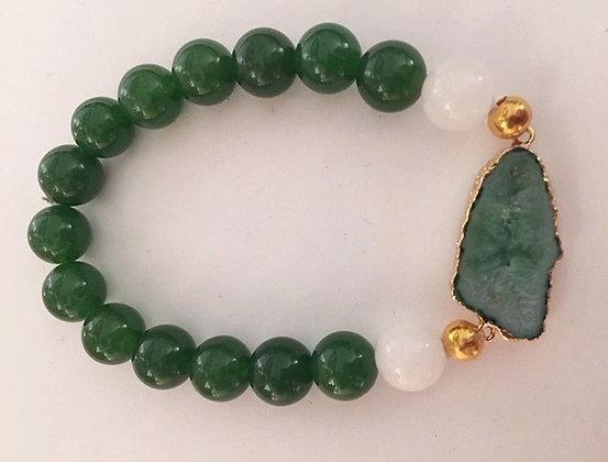 Vibrant Green Jade Bracelet