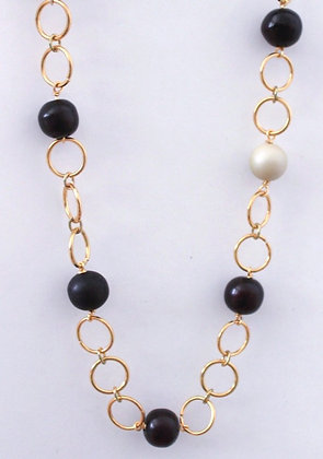 Rings and Beads Necklace