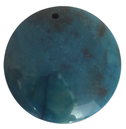 Round Dark Teal Pendant