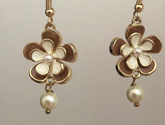 Flower Floral Drop Earrings