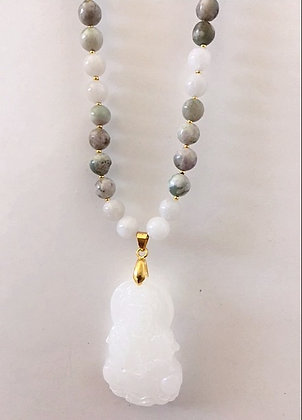 Natural Jade Beaded Necklace