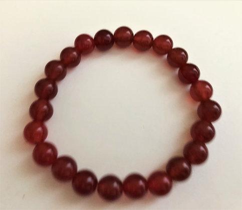 Garnet Stretch Bracelet Healing Meditation Stones Chakra Bracelet