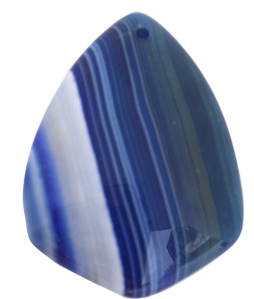 Blue and White Agate Pendant