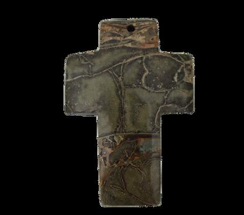 Green Cross Jasper Agate Pendant