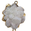 Thumbnail: White Raw Druzy Connector Pendant