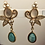 Thumbnail: Statement Light Blue Round Dangle Earrings